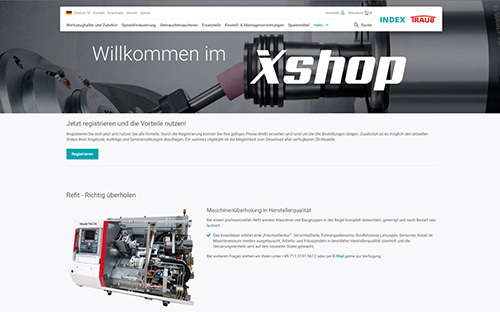 The INDEX & TRAUB onlineshop
